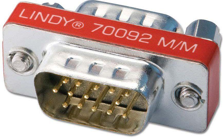 Adapter AV Lindy Mini Adapter D-Sub męski-męski (70092) 1