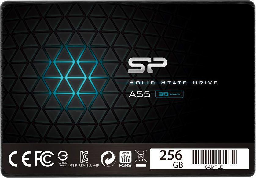 "Dysk SSD Silicon Power A55 256 GB 2.5"" SATA III (SP256GBSS3A55S25) 1"