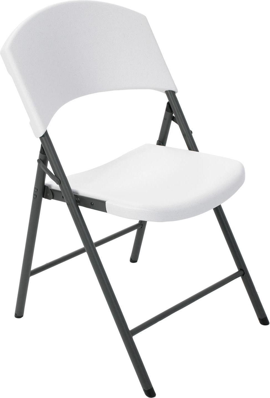 Lifetime Półkomercyjne krzesło składane biały granit - (2810) 1