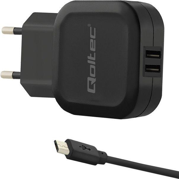 Ładowarka Qoltec do Smartfona/Tabletu 2xUSB (50187) 1