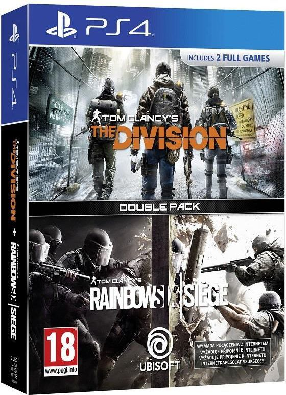 Zestaw Rainbow Six Siege + The Division PS4 1