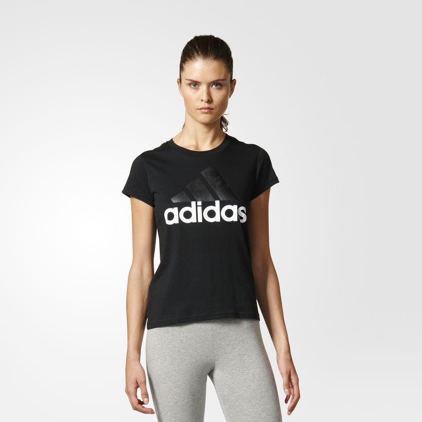 niska cena dobra sprzedaż style mody Adidas Koszulka damska T-shirt czarna r. M (B45786) ID produktu: 1546412