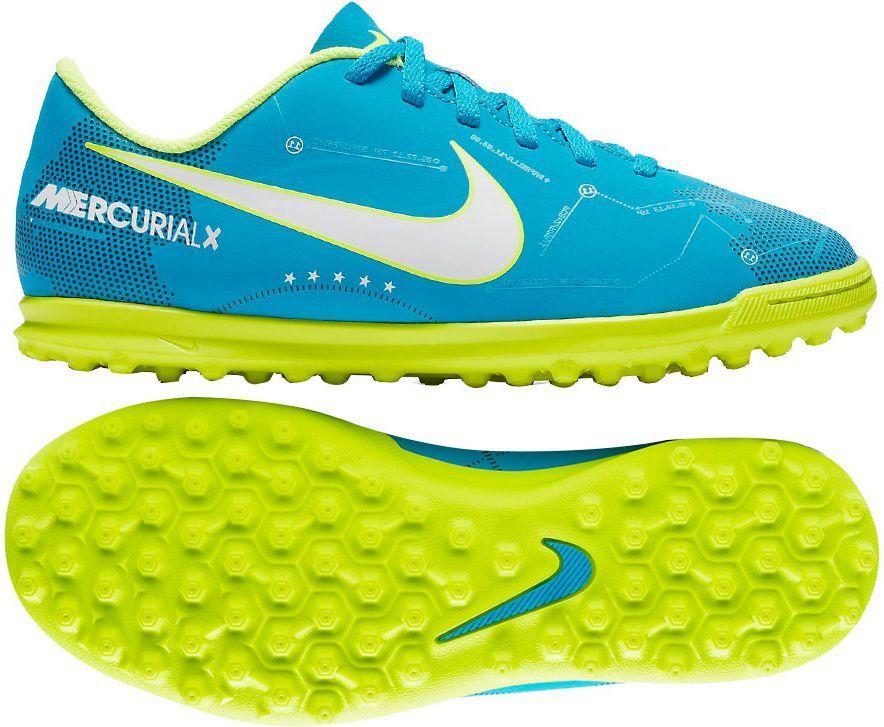 100% authentic 13baa 2df87 Nike Buty Nike JR MercurialX VRTX III TF Neymar niebieskie r. 29.5 (921497  400) w Sklep-presto.pl