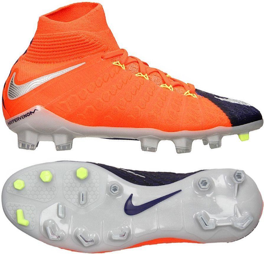 check out 3fe3b 0d2f0 Nike Buty piłkarskie JR Hypervenom Phantom 3 DF FG czarno-pomarańczowe r.  38 (882087 409) w Sklep-presto.pl