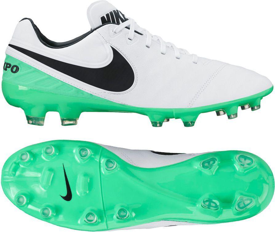 db308a42 Nike Buty pilkarskie Tiempo Legacy II FG biało-zielone r. 44.5 (819218 103)  w Sklep-presto.pl