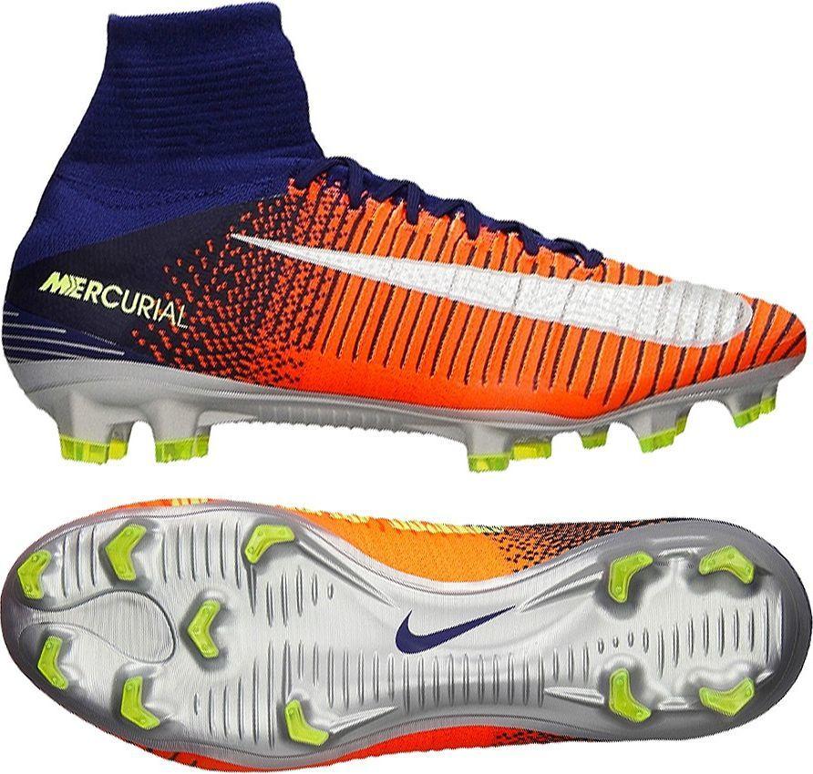 check out fe353 0859a Nike Buty piłkarskie Mercurial Superfly V DF FG niebiesko-pomarańczowe r. 40  12 (831940 408) w Sklep-presto.pl