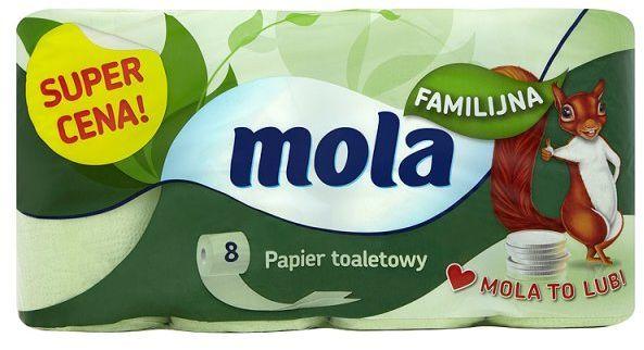 Mola Papier toaletowy Familijny zielony 8szt. 1