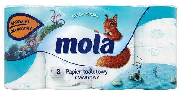 Mola Bryza morska papier toaletowy 3-warstwy 8 szt 1