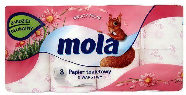 Mola Kwiaty Polne papier toaletowy 3-warstwy 8 szt 1