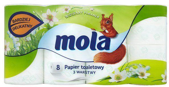Mola Wiosenny Poranek papier toaletowy 3-warstwy 8 szt 1