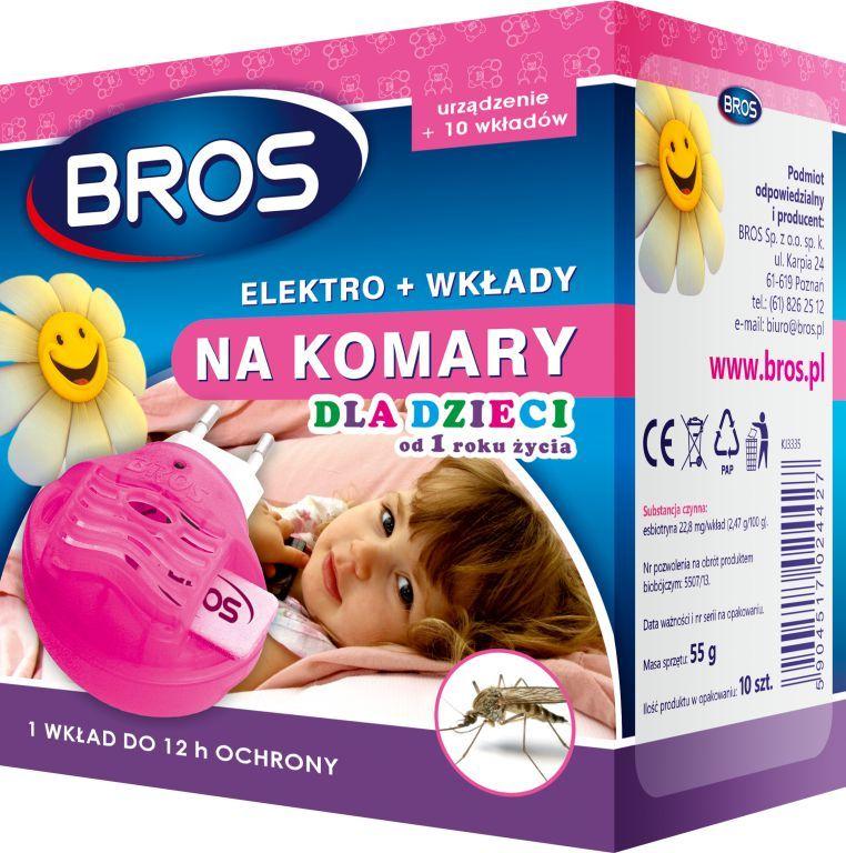 Bros Elektro + 10 Wkładów Na Komary Dla Dzieci 1