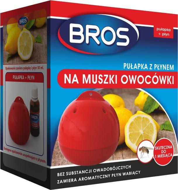 Bros Pułapka z płynem na muszki owocówki 1szt 1