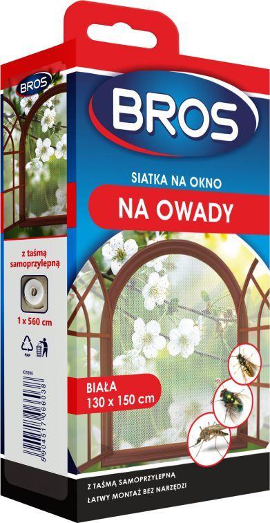 Bros Siatka na okno 130 x 150cm Biała 1