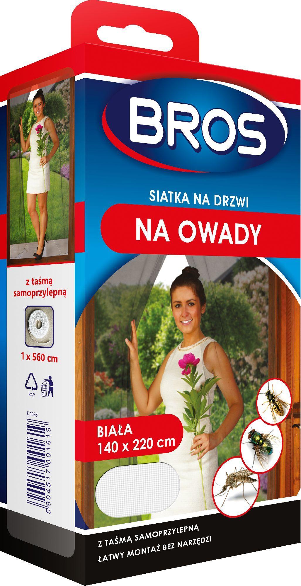 Bros Satka na drzwi 140 x 220 cm Biała 1