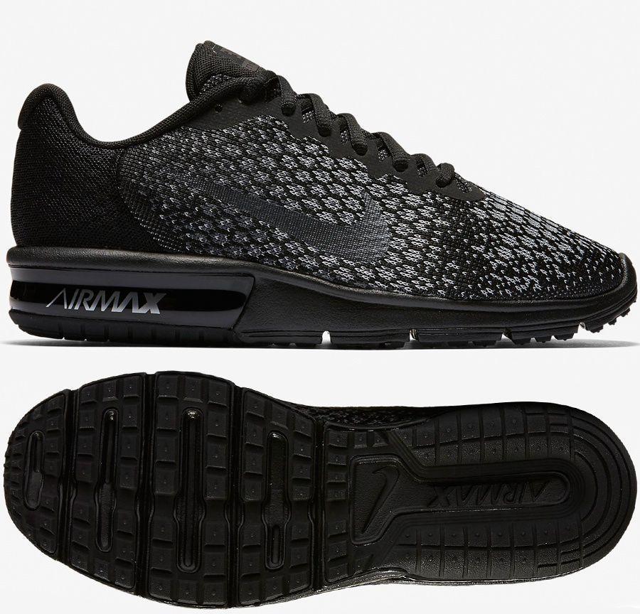 na stopach o jakość wykonania największa zniżka Nike Buty damskie Air Max Sequent 2 czarne r. 36 1/2 (852465 010) ID  produktu: 1561537