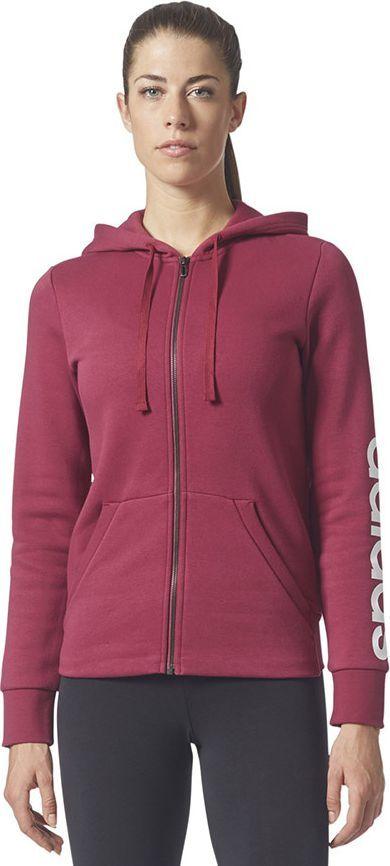 Adidas Bluza damska ESS LIN FZH FL czerwona r. M (BR2448) ID produktu: 1562853
