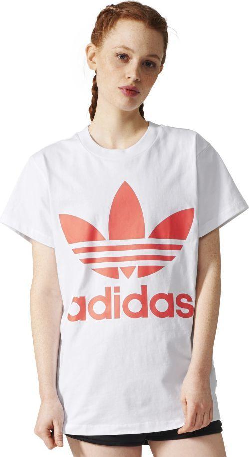 najnowsza kolekcja topowe marki najlepsze buty Adidas Koszulka damska BIG TREFOIL TEE biała r. 34 (BR9827) ID produktu:  1563157