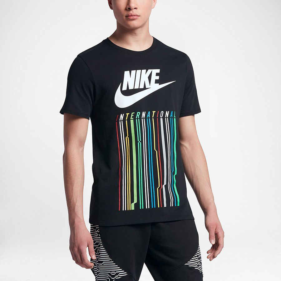 8821270cf37634 Nike Koszulka męska NK INTL TEE 1 czarna r. S (847443-010-S) w  Sklep-presto.pl