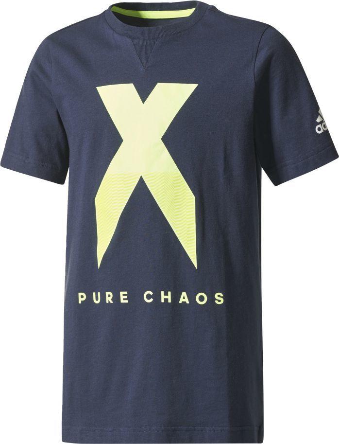 Adidas Koszulka dziecięca YB X Tee granatowa r. 176 cm (CE9019) ID produktu: 1563790