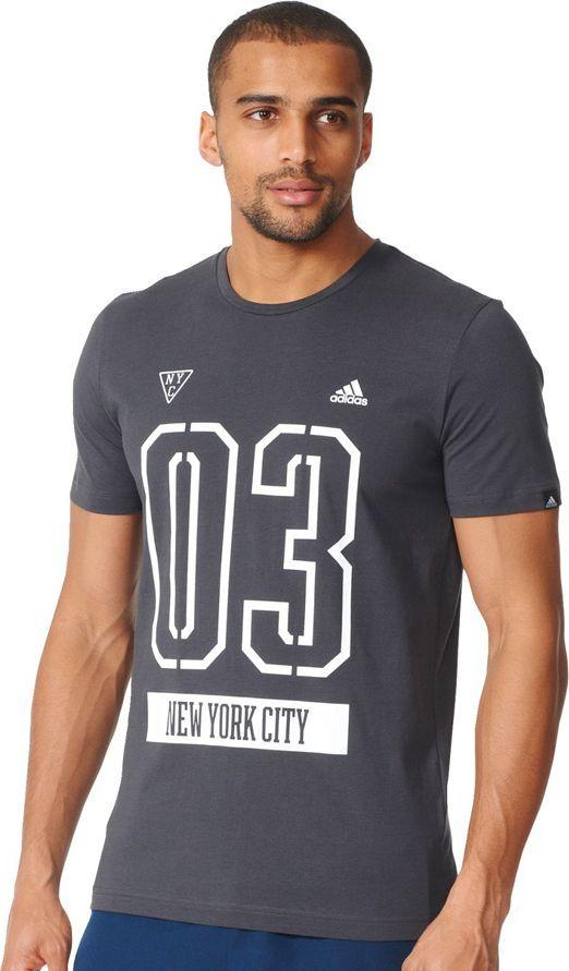 informacje dla niepokonany x Los Angeles Adidas Koszulka męska adidas ADI 03 NY czarna r. S (AY7219) ID produktu:  1564106