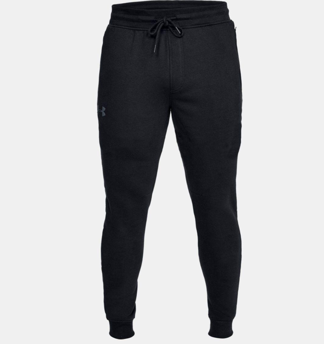 Under Armour Spodnie męskie Threadborne Stacked Jogger czarne r. S (1299145 001) ID produktu: 1564174