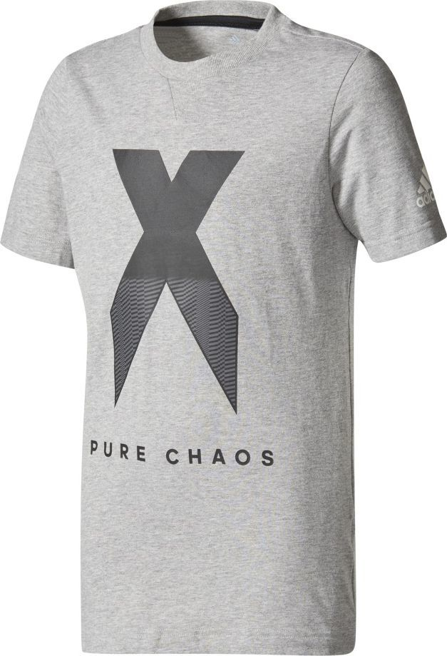 Adidas Koszulka dziecięca YB X Tee szara r. 176 cm (CE9011) ID produktu: 1564681