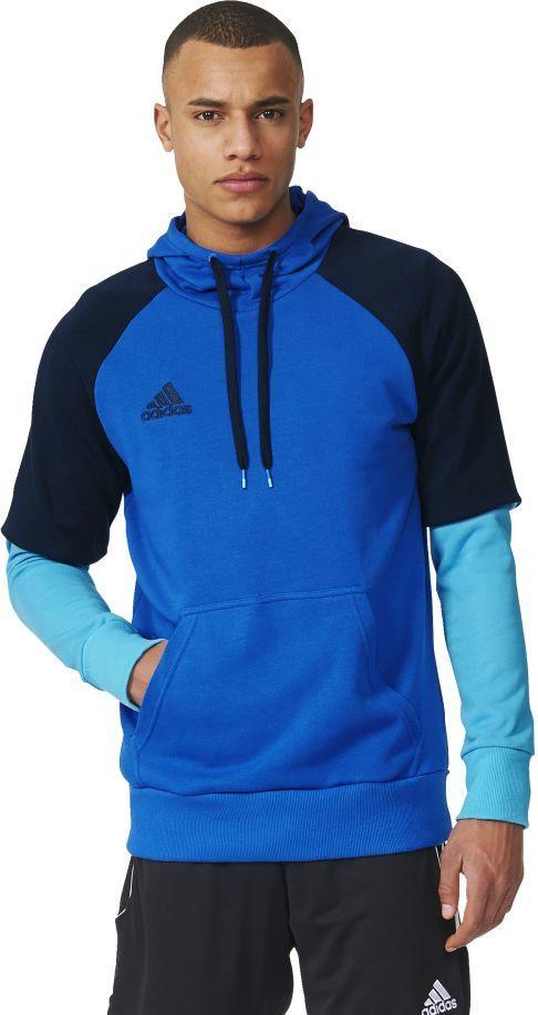 Adidas Bluza piłkarska Condivo 16 Hoody niebieska r. XS (AB3157) ID produktu: 1566840