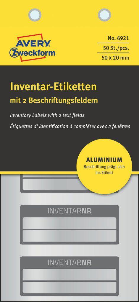 Avery Zweckform Tabliczki znamionowe aluminiowe 50 x 20 mm (6921) 1