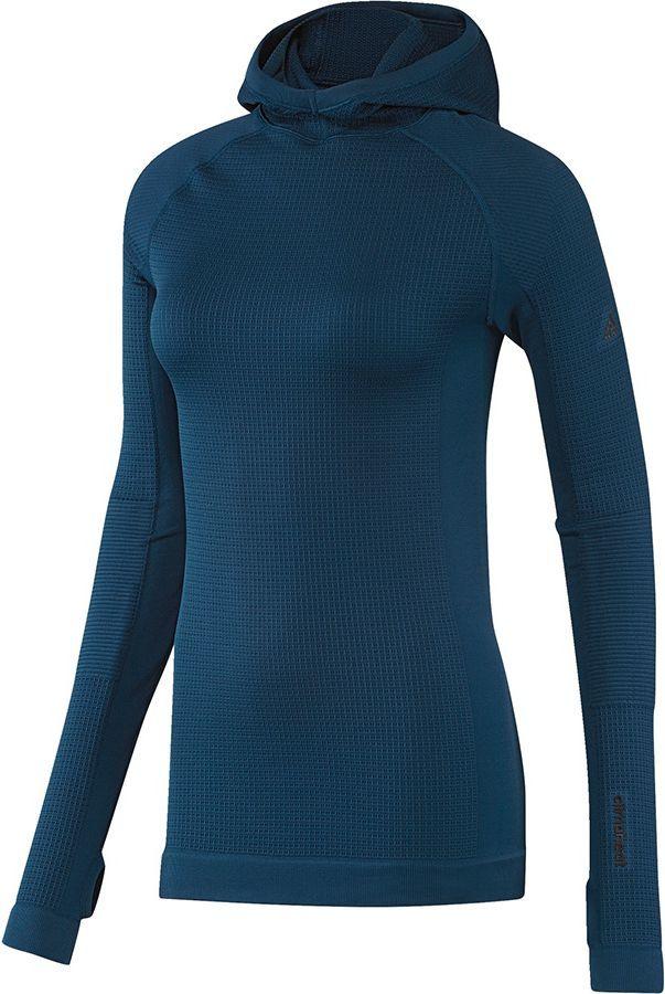 Adidas Bluza damska Seamless Climaheat Hooded Longsleeve niebieska r. S (AP7347) ID produktu: 1574710