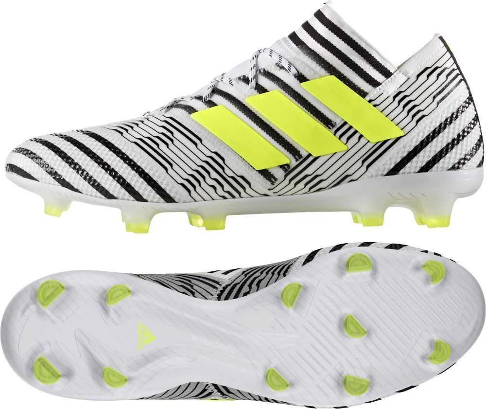 Adidas Buty piłkarskie Nemeziz 17.1 FG biało czarne r. 45 13 (BB6075) ID produktu: 1575051
