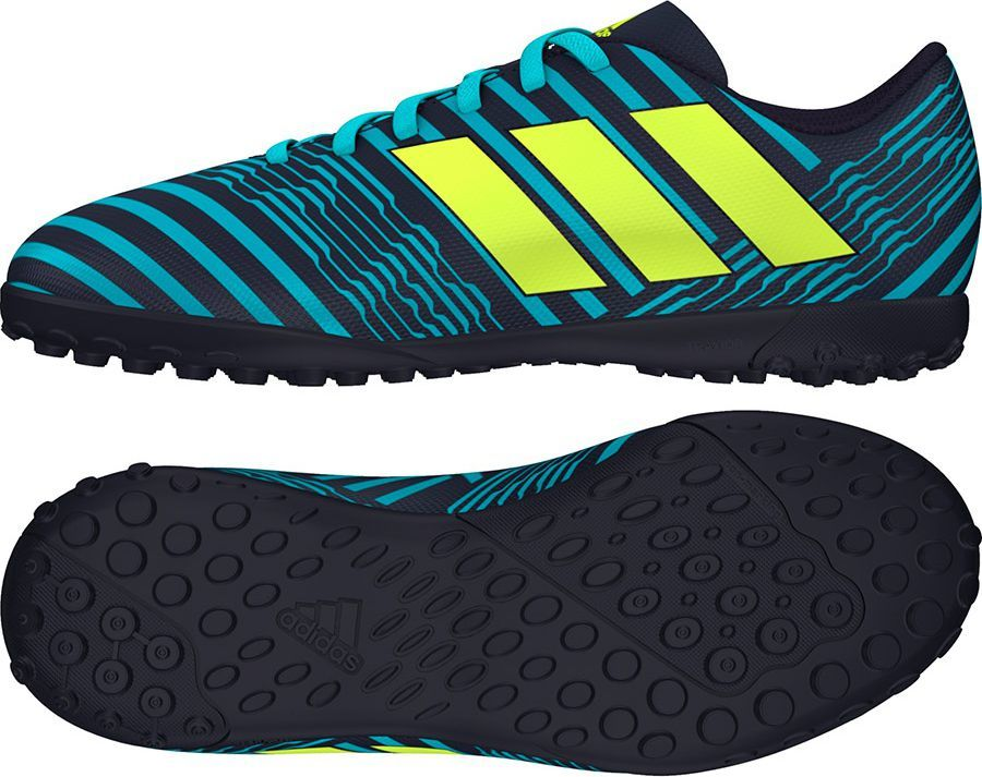Adidas Buty piłkarskie Nemeziz 17.4 TF Jr czarno niebieskie r. 34 (S82469) ID produktu: 1575237