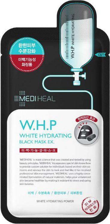 MEDIHEAL W.H.P White Hydrating Black Mask EX czarna maska nawilżająco-wybielająca do twarzy 25ml 1