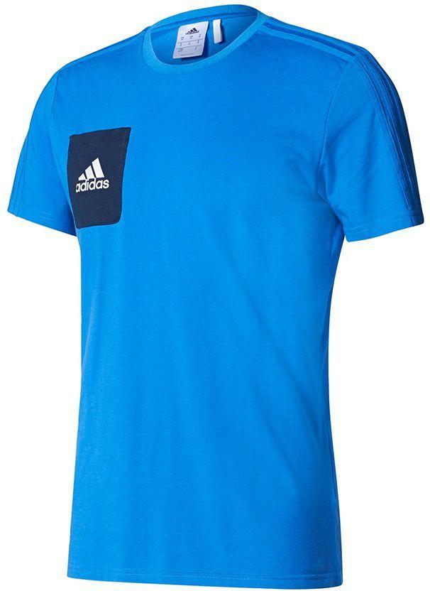 Adidas Koszulka męska Tiro 17 Tee niebieska r. L (BQ2660) ID produktu: 1576967
