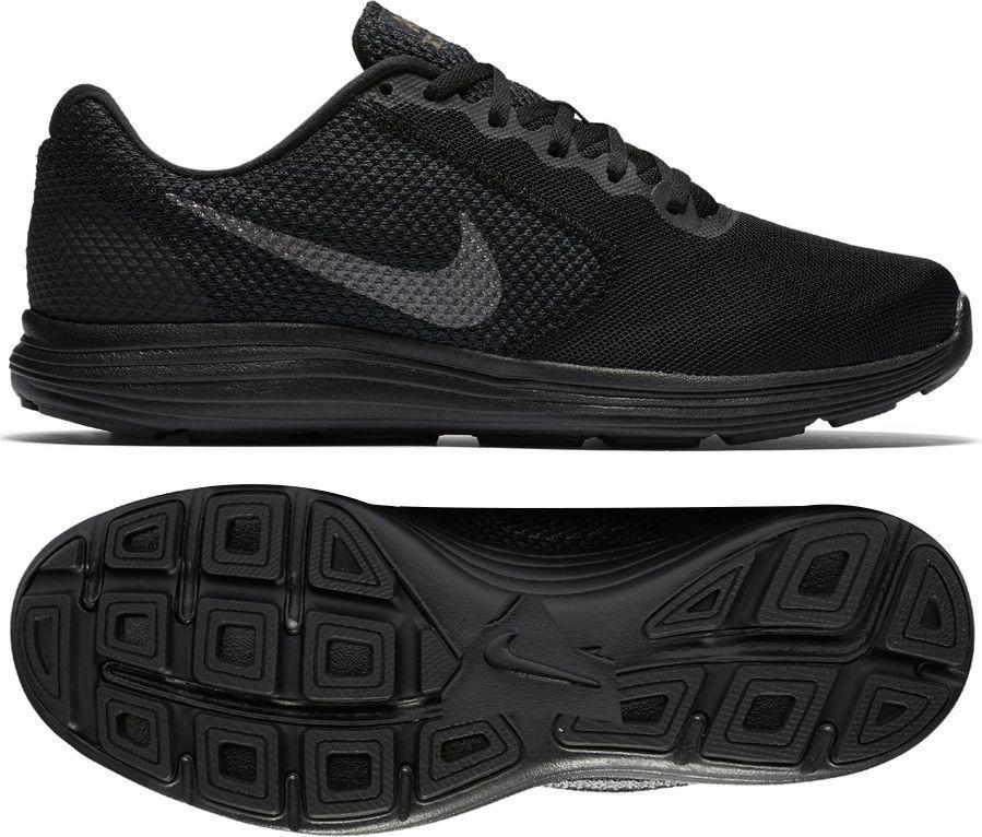 Nike Buty męskie biegowe Revolution 3 czarne r. 42 (819300 012) ID produktu: 1580145