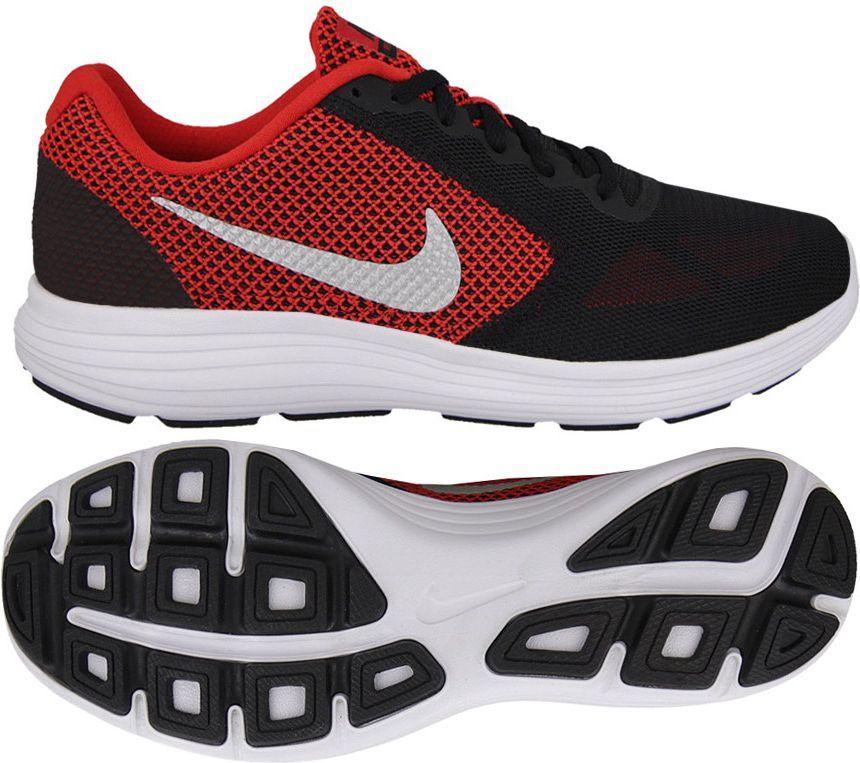 buty nike męskie czrna siatka z nike czerwonym