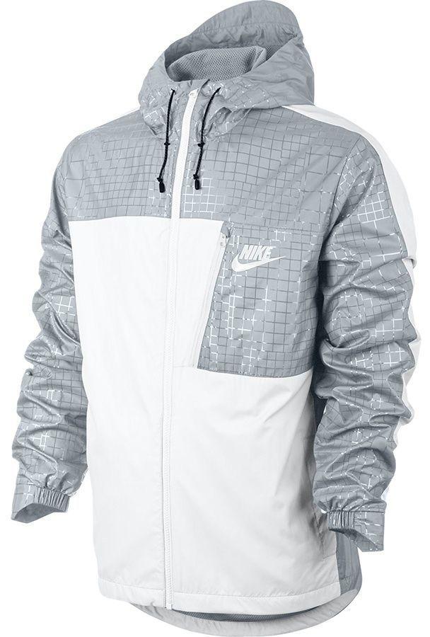 Nike Kurtka Męska biało szara r. S (831861 102) ID produktu: 1580943