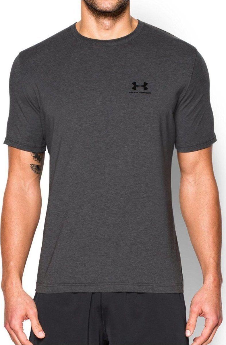 2e361d1025ab7c Under Armour Koszulka męska Sportstyle Left Chest Logo T-Shirt Carbon  Heather r. XL (1257616090) w Sklep-presto.pl