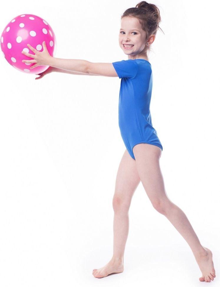 Shepa Body gimnastyczne dziewczęce krótki rękaw niebieske r. 158 1