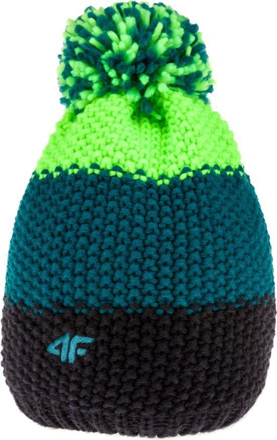 4f Czapka męska H4Z17 CAM011 turkusowo zielono czarna r. LXL ID produktu: 1594163