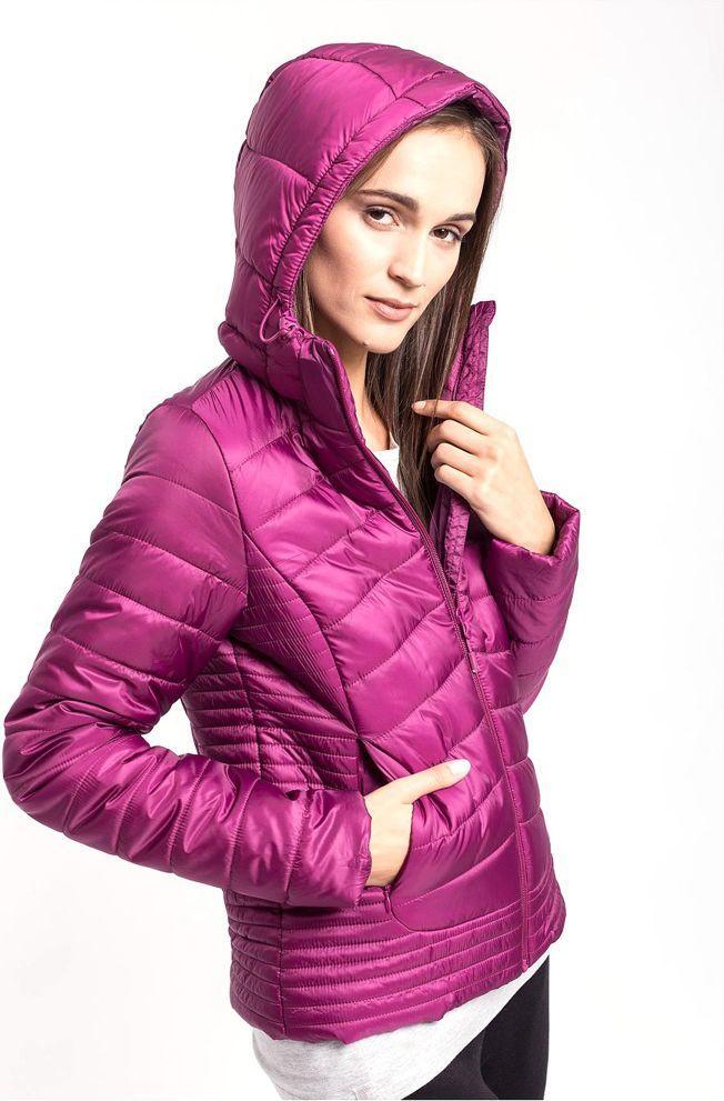 damska kurtka h4z17 kud004 fiolet purpurowy m