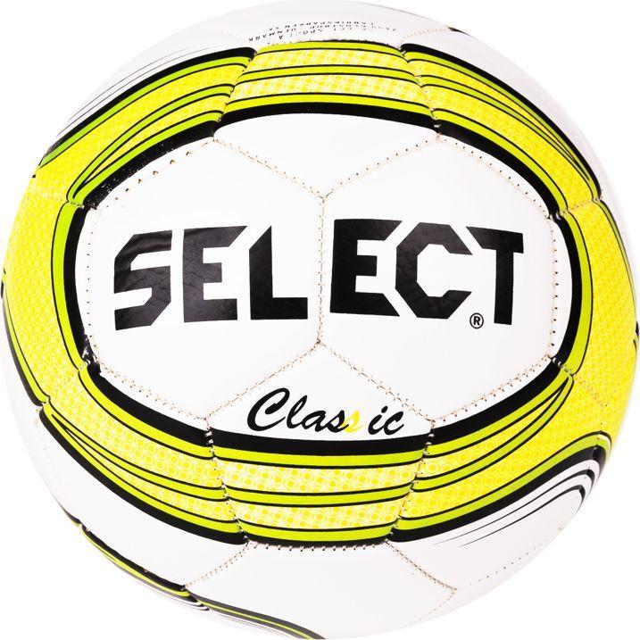 7f106744ec171 Select Piłka nożna Classic biało-żółta r. 4 w Sklep-presto.pl