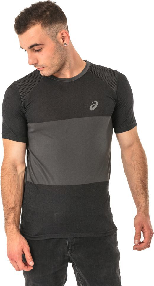 Asics Koszulka męska FuzeX Seamless Tee Asics Dark Grey r. L (1412390779) ID produktu: 1596453