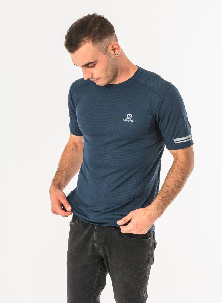 Salomon Koszulka męska Agile SS Tee Dress Blue r. XL (398625) ID produktu: 1597034