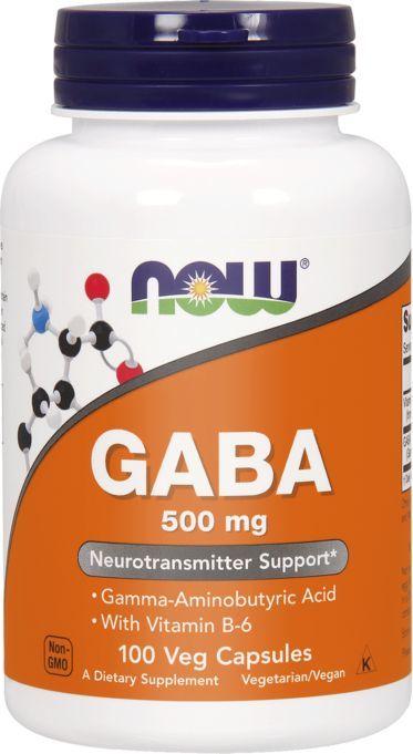 NOW Foods GABA 500mg 200 kapsułek 1