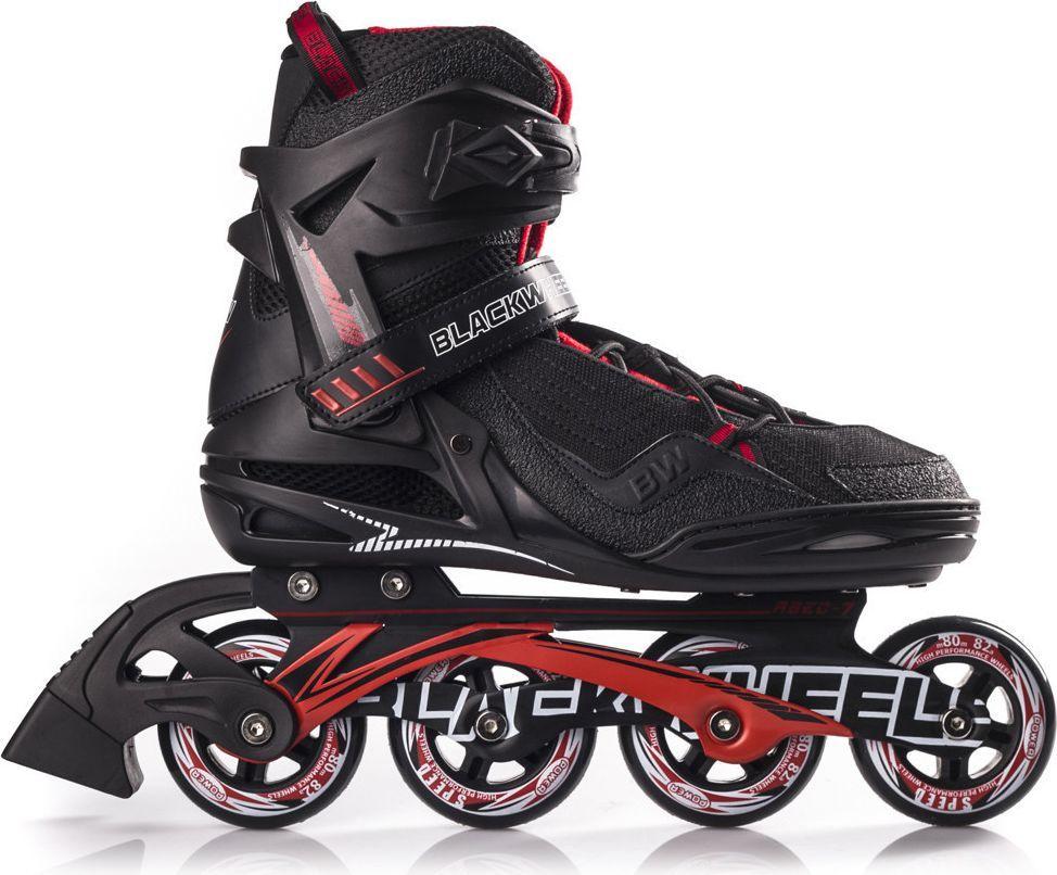 Blackwheels Rolki Race czarno-czerwone r. 42 1