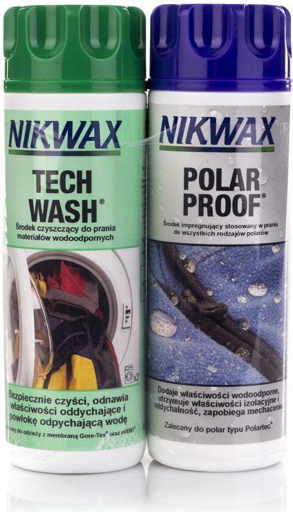 Nikwax Zestaw do pielęgnacji odzieży z włókien syntetycznych Tech Wash/Polar Proof 2x300ml (NI-34) 1