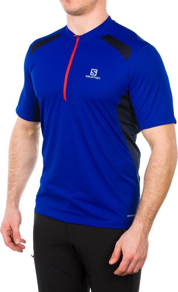 Salomon Koszulka męska Fast Wing Tee Blue Yonder czarno niebieska r. XL (382746) ID produktu: 1600806