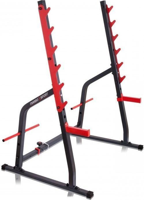 Marbo Sport Stojaki pod sztangi czarno-czerwone 166x160x107 cm (MS-S107) 1
