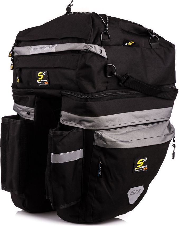 053553d210f53 Sport Arsenal Sakwa rowerowa na bagażnik potrójna 465 + mini sakwa Sport  Arsenal roz. uniw w Sklep-presto.pl