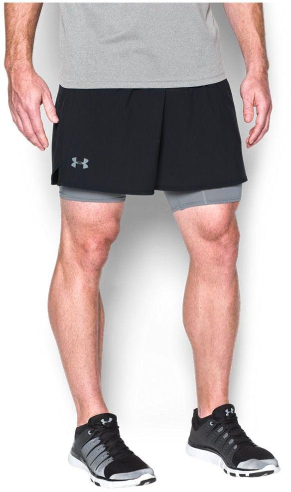 Nowe Produkty Darmowa dostawa wielka wyprzedaż Under Armour Spodenki męskie Qualifier 2-in-1 Shorts Black r. XL (12896251)  ID produktu: 1603560
